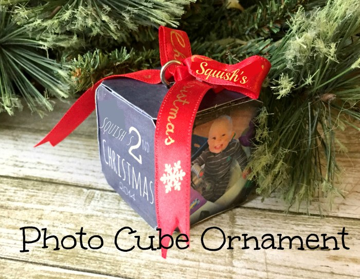 Photo Cube Ornament