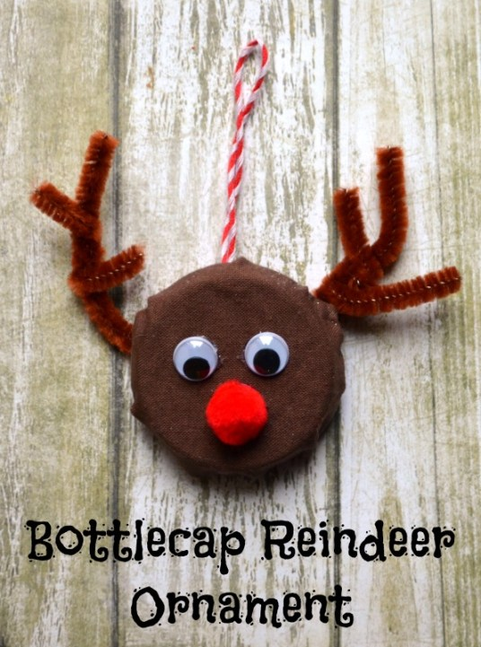 Bottlecap Reindeer Ornament