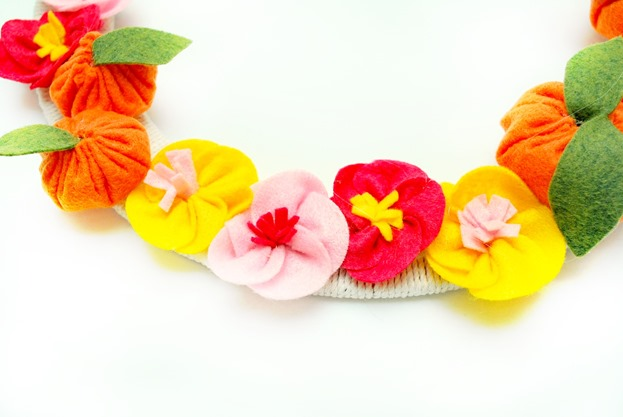 cherry blossom and tangerine wreath_thumb