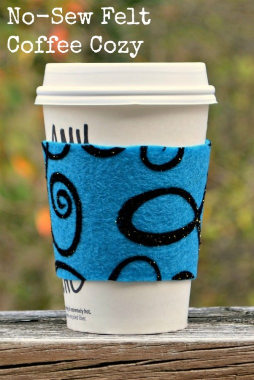 No-Sew Felt Coffee Cozy