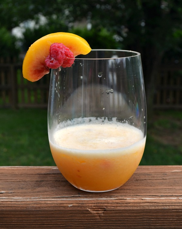 Peach Moscato Slush Drink