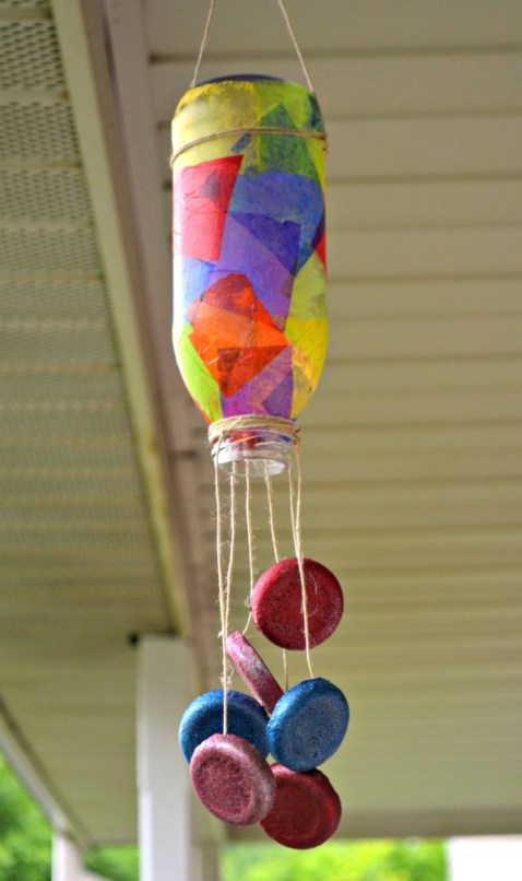 Wind Chime from a Tea Bottle