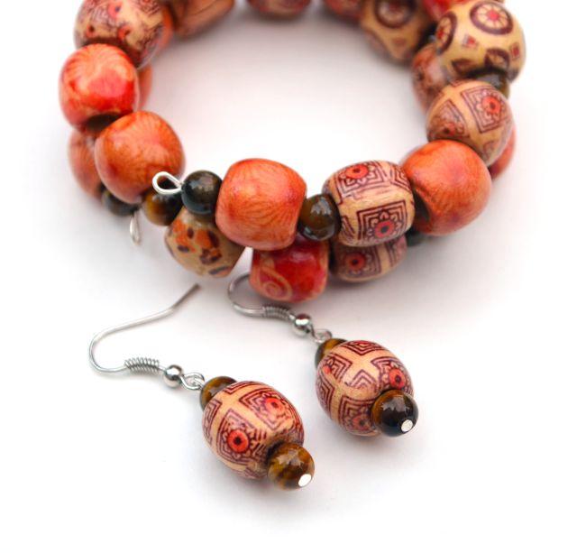 Boho Wooden Earrings