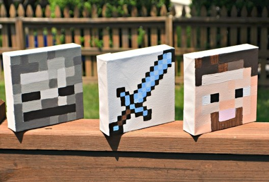 Minecraft Canvas Art Squares