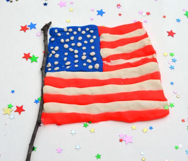 Play-Doh American Flag