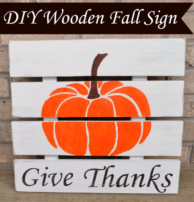 DIY Wooden Fall Sign
