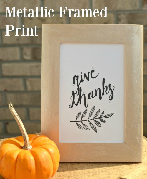 Metallic Frame with Thanksgiving Printable