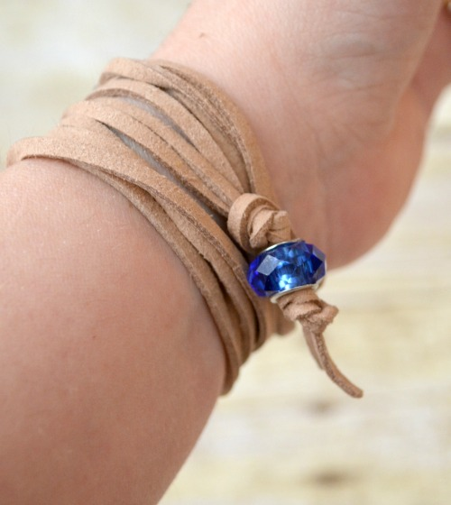 Stamped Cubes Wrap Bracelet