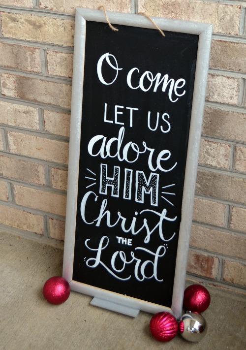 Christmas Chalkboard Sign