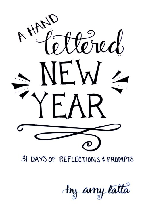 Hand Lettered New Year