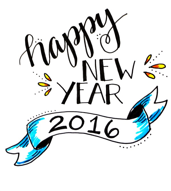 Happy New Year Lettering Project
