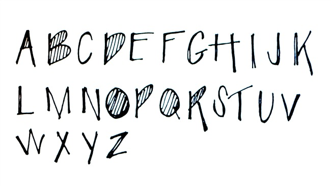Uppercase Lots of Lines Font
