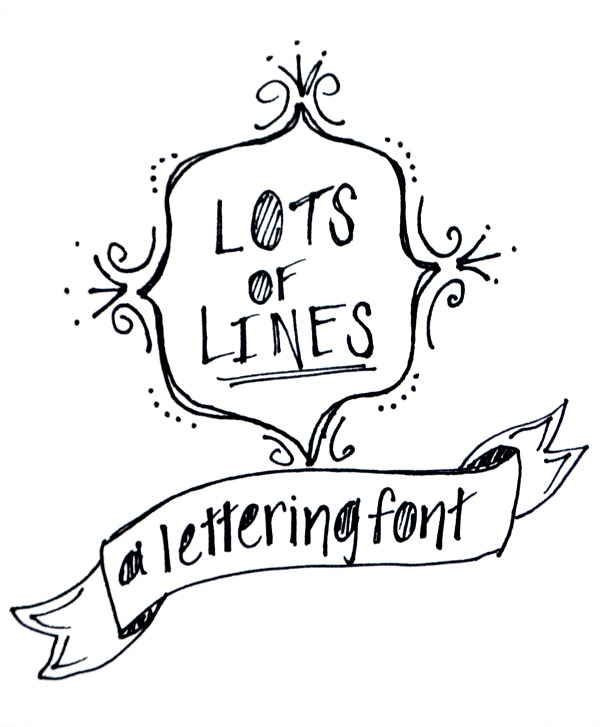 Lots of Lines Hand Lettering Font