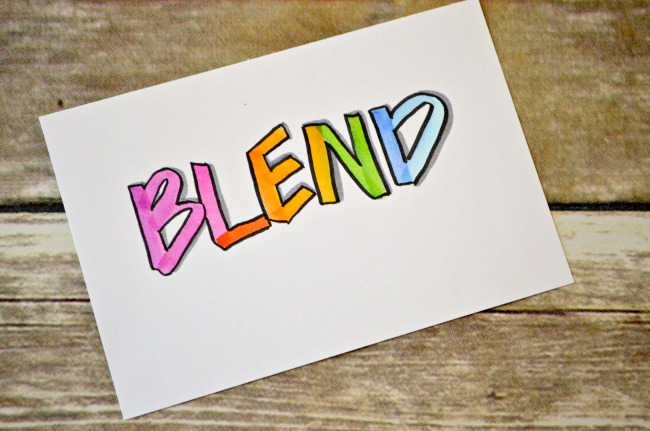 Blending Palette for Hand Lettering