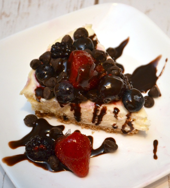 Berries and Chocolate Cheesecake