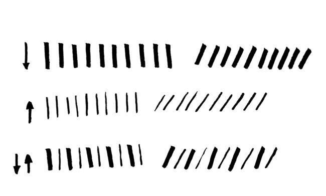Practice brush lettering