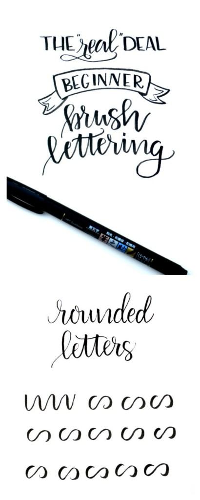 Beginner Brush Lettering: Rounded Letters