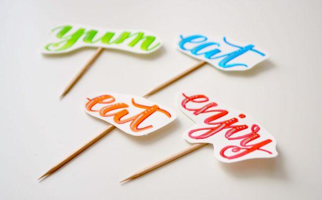 hand lettered picks