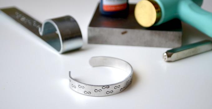 Stamped Infinity Bracelet