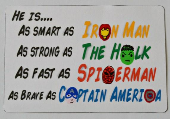 Father's Day Superhero Art