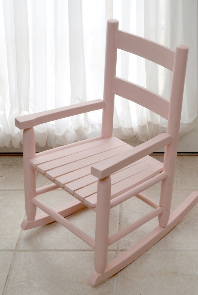 Rocking Chair Painted with Milk Paint