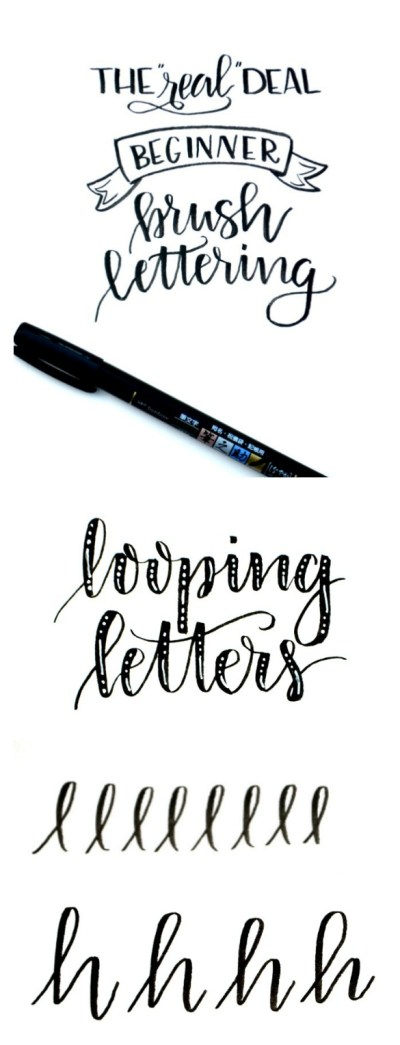 Beginner Brush Lettering: Looping Letters