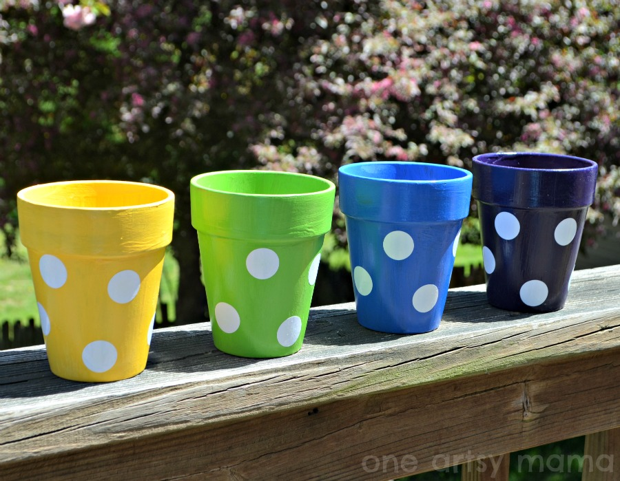 Polka Dot Flower Pot