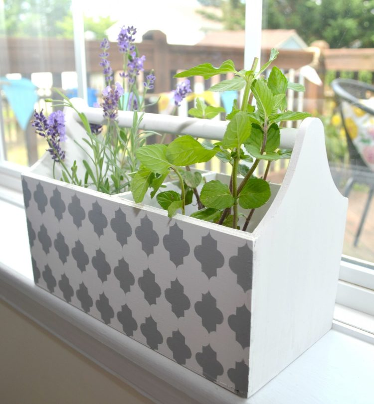 Stenciled Herb Box