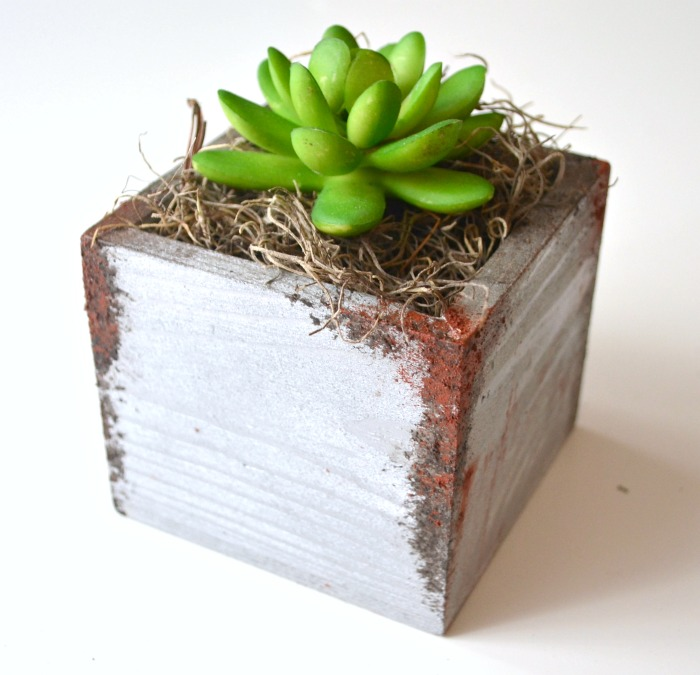 Faux Rust Succulent Planter