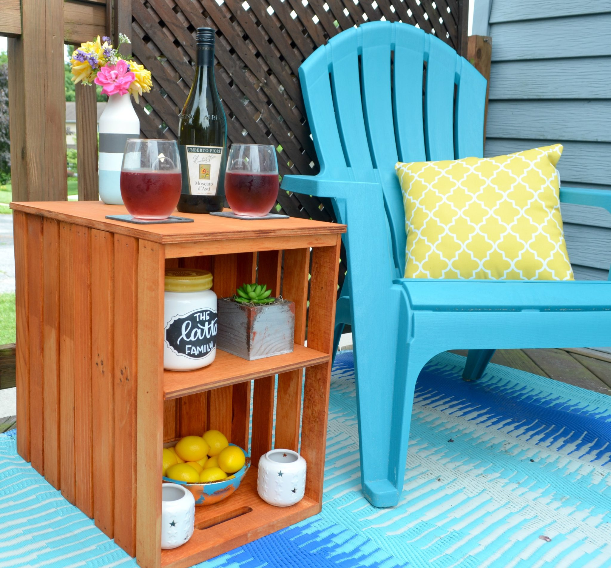 DIY Outdoor Crate Table