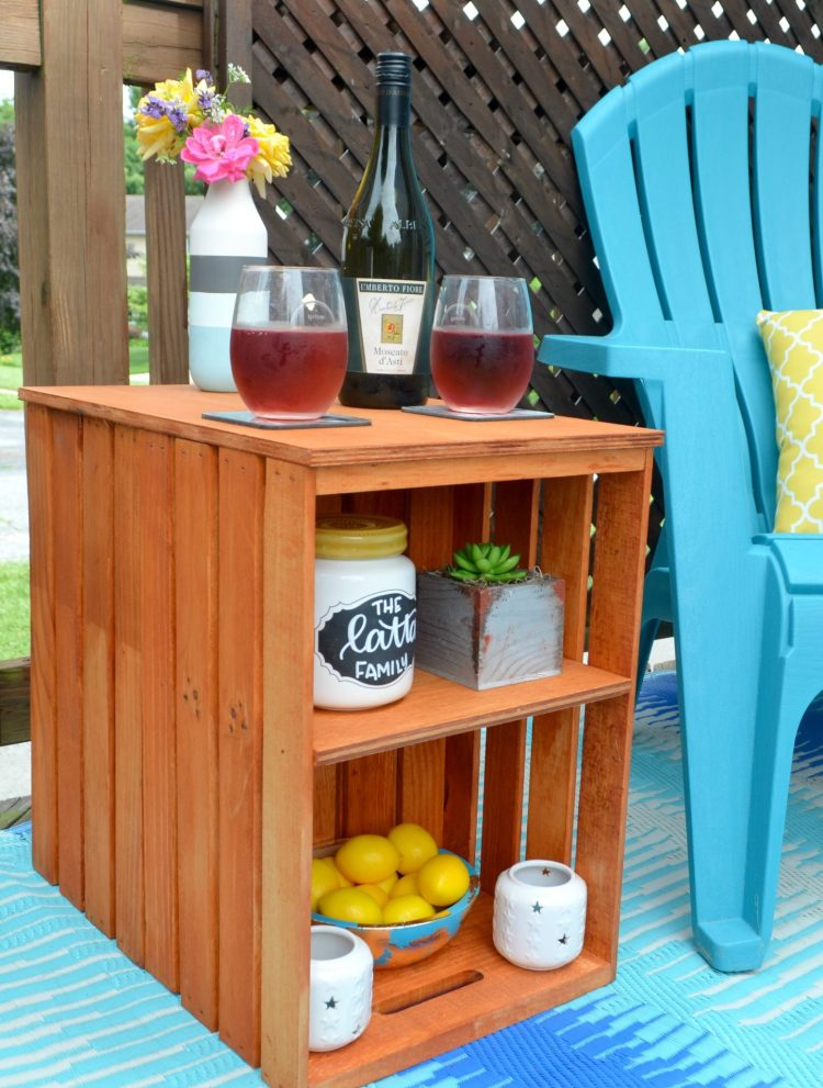 DIY Outdoor Table with Crates