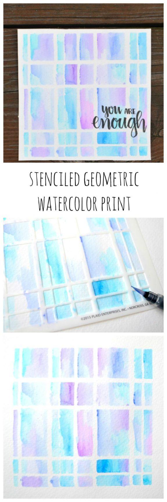 Geometric Watercolor Print