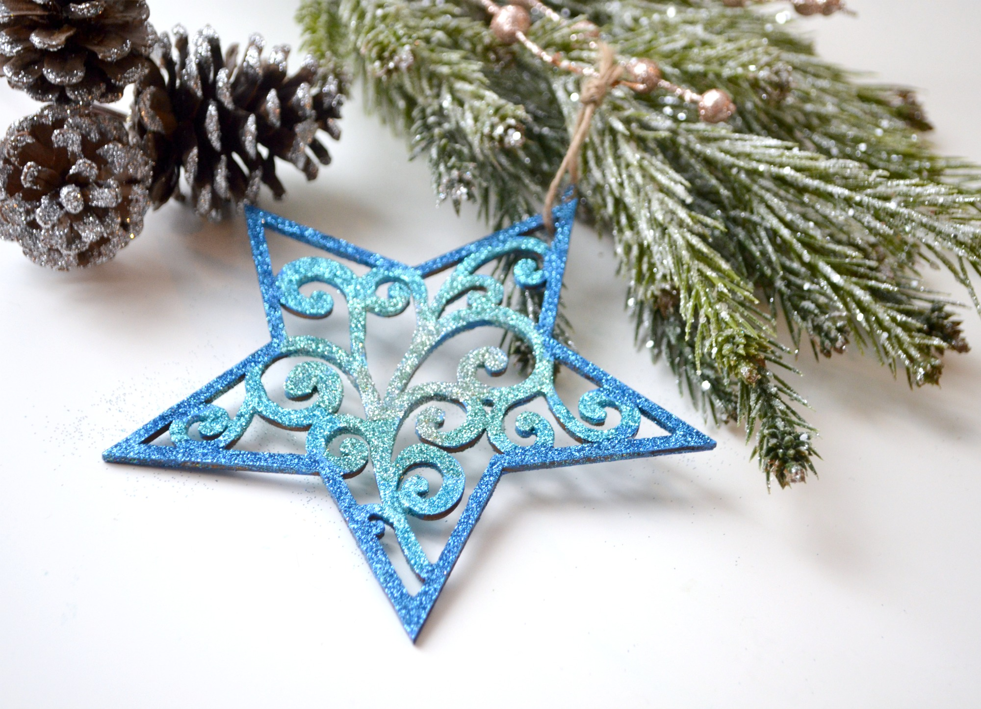 Glitter Star Ornament