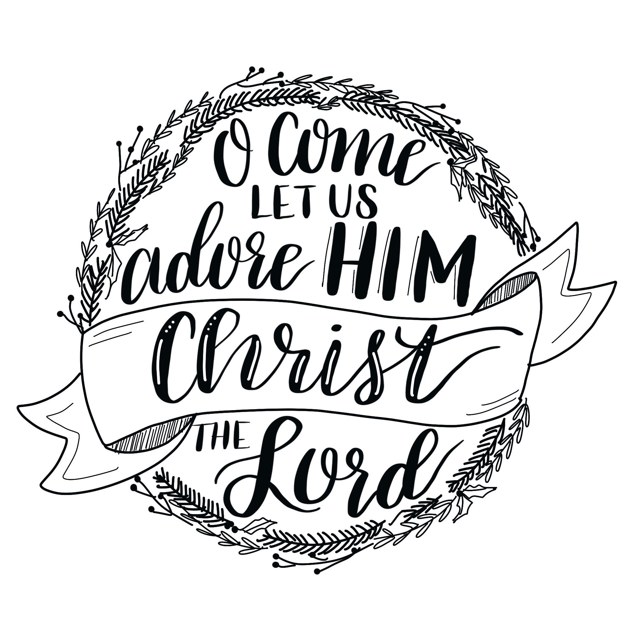 Hand Lettered Christmas Hymn Tutorial & Printable