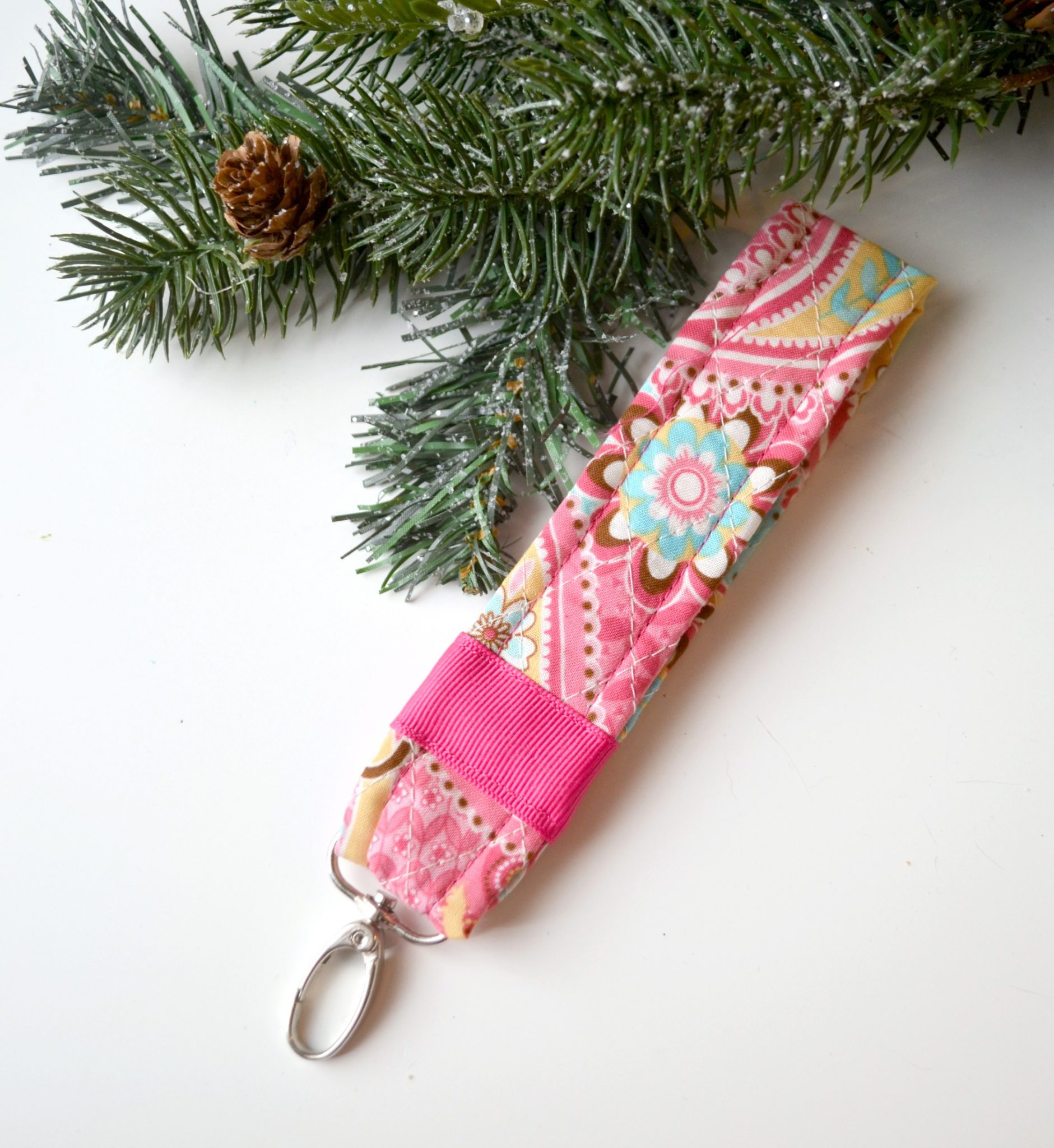 Quilted Key Fob