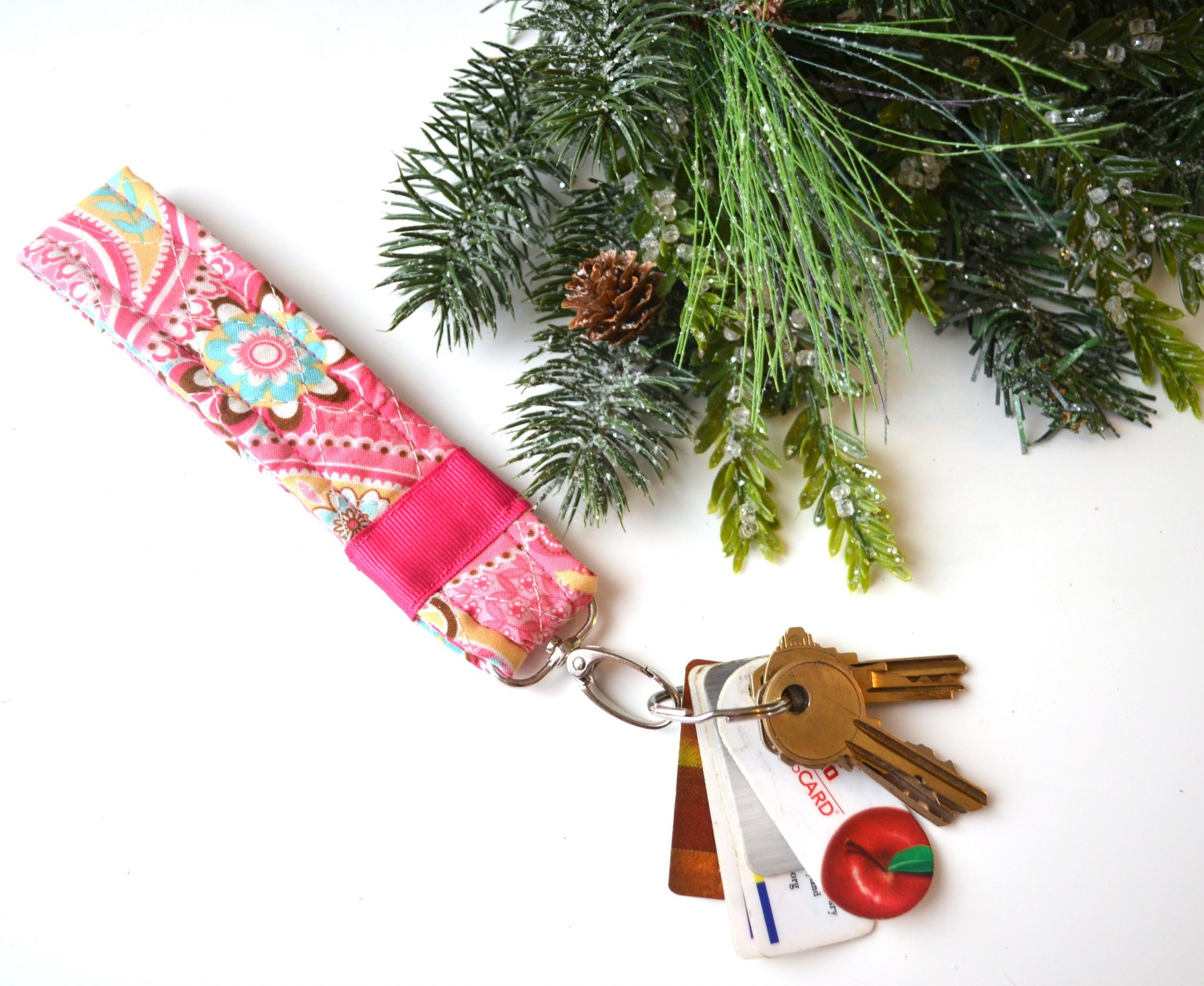 DIY Quilted Key Fob