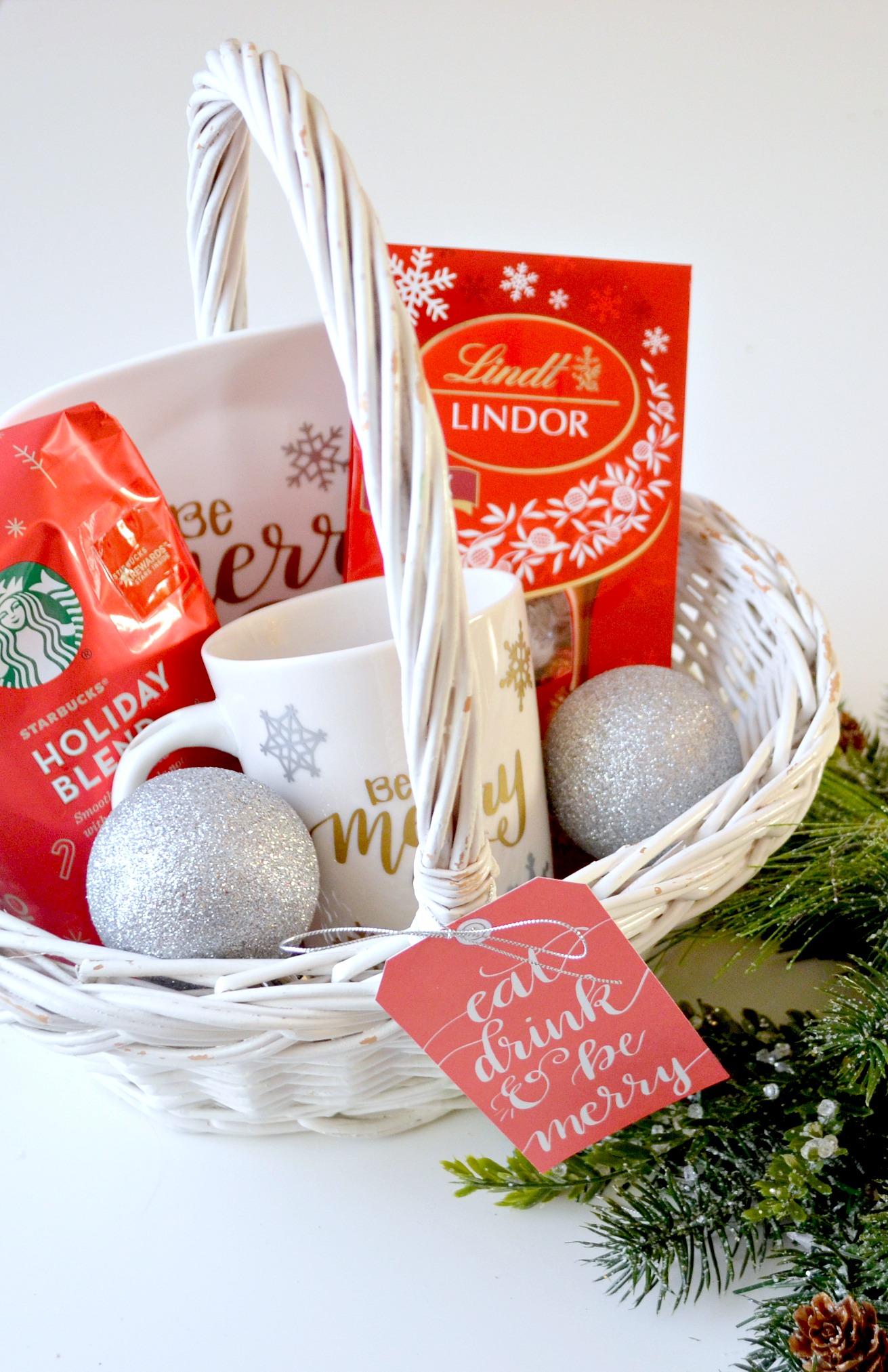 Starbucks and Lindt Coffee & Chocolate Christmas Gift Basket