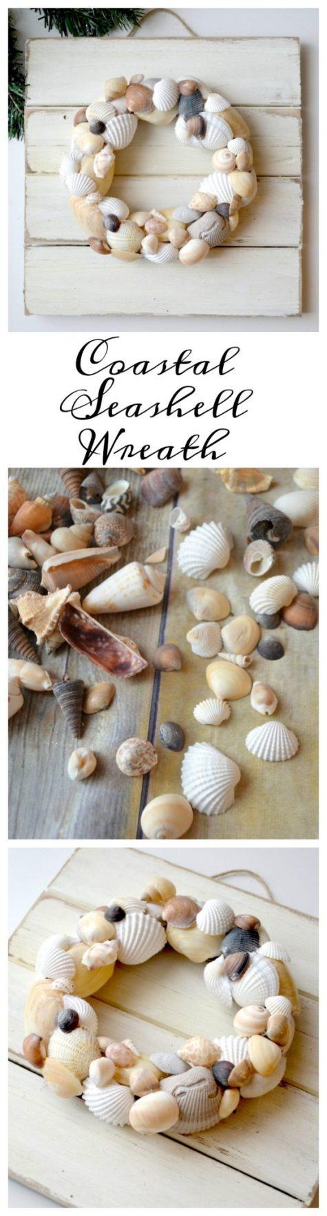Coastal Seashell Wreath