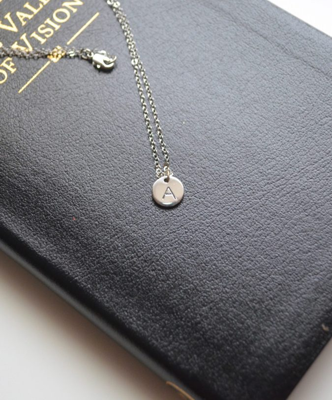 Stamped Monogram Necklace