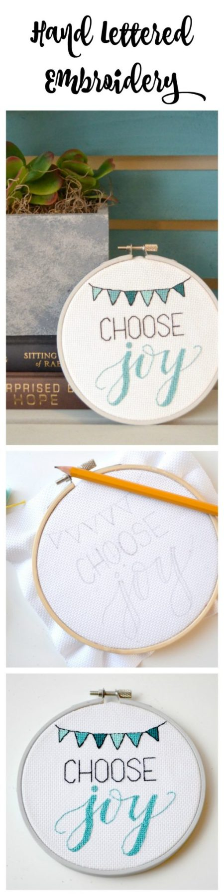 Hand Lettered Embroidery