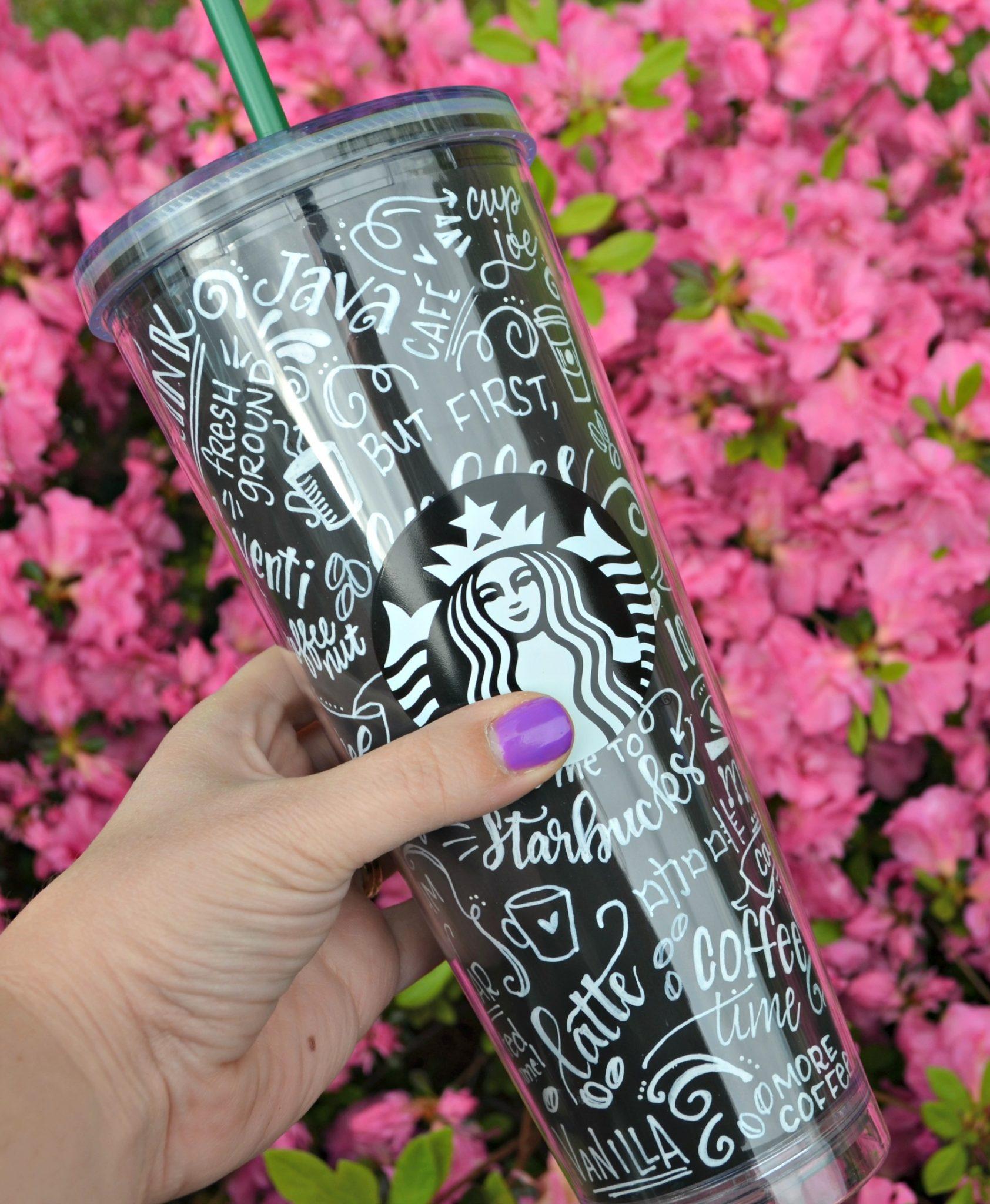 Chalk Art Coffee Cup