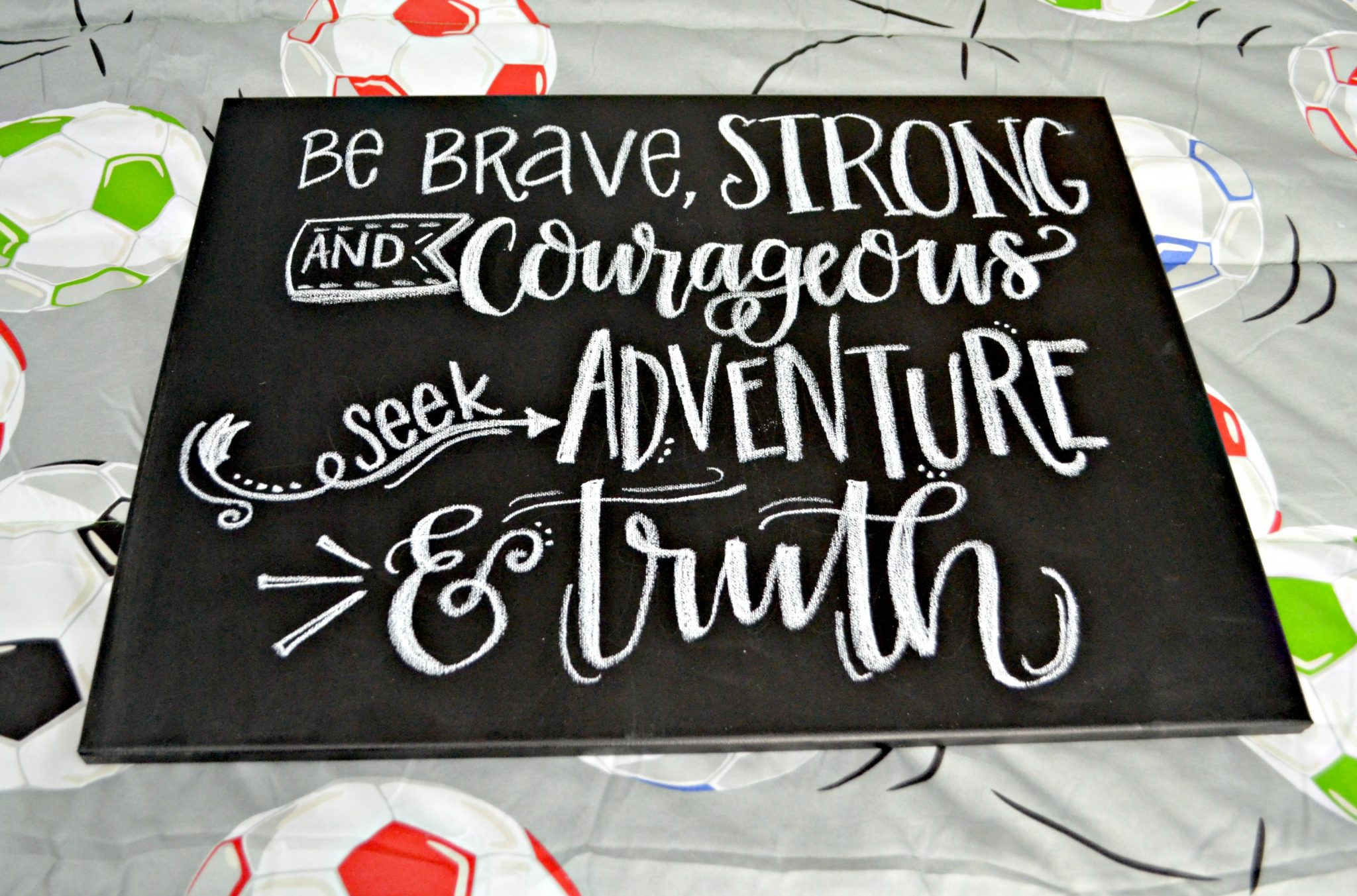 """Lettered """"Be Brave"""" Wall Art"""