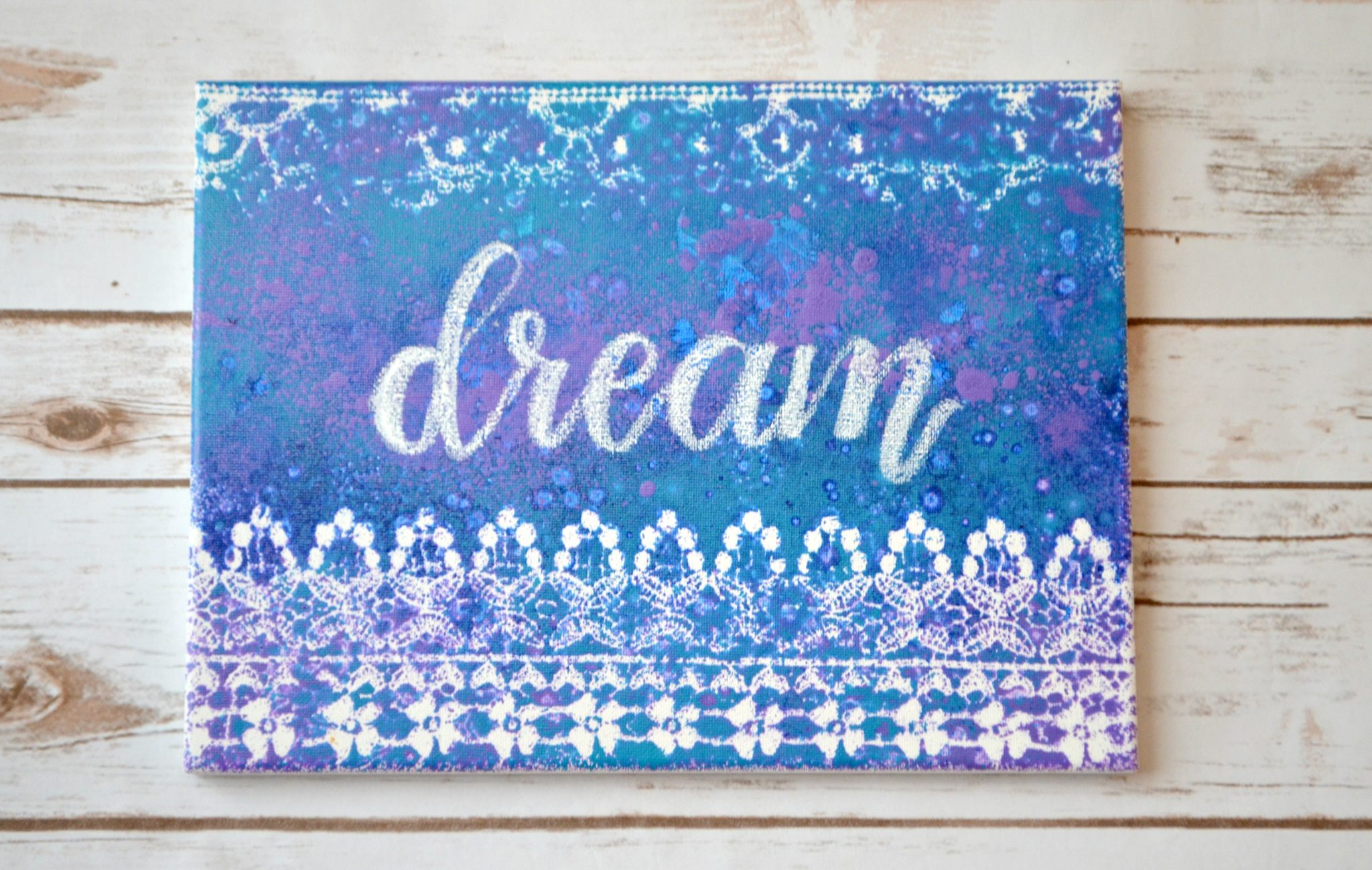 Fun With Paint: Spray Splatter Canvas