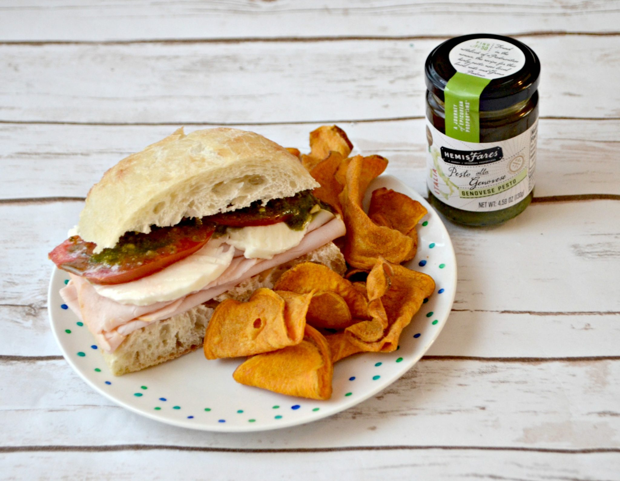 Turkey Caprese Sandwich