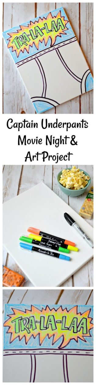 Captain Underpants Movie Night & Art Project