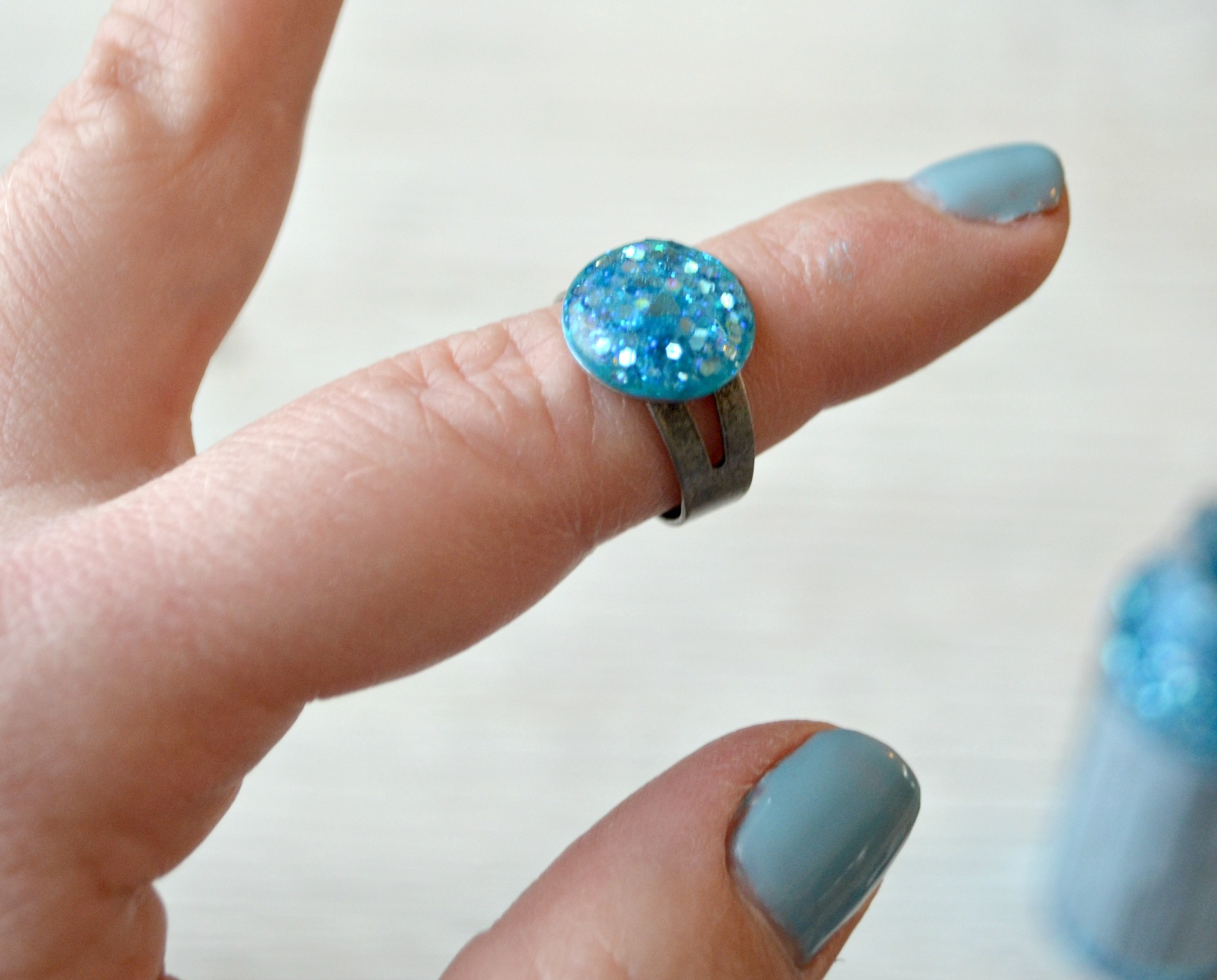 Faux Druzy Jewelry with FolkArt Glitterific