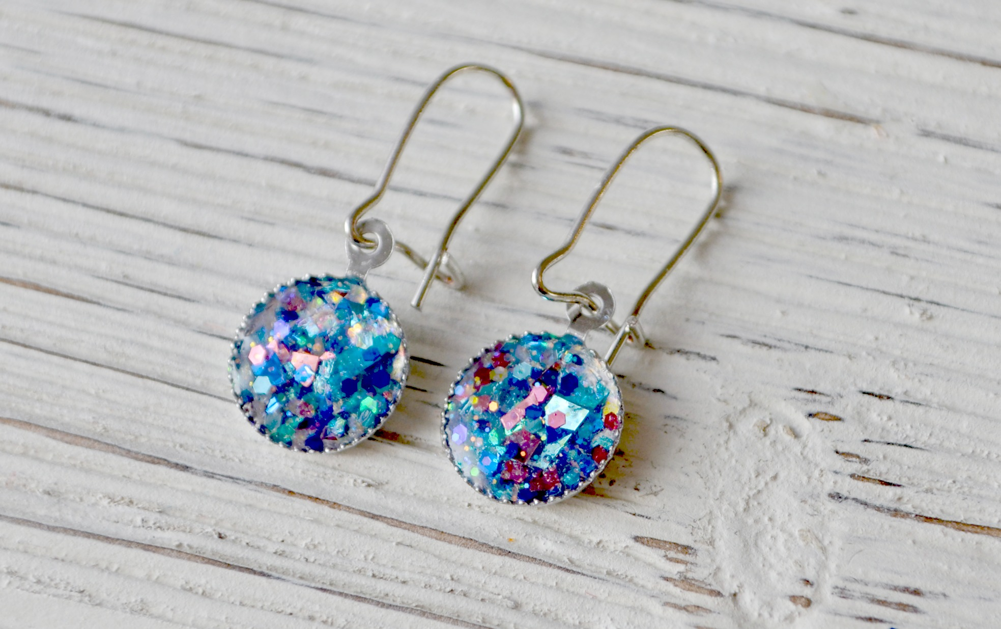 Sparkle Earrings with FolkArt Glitterific