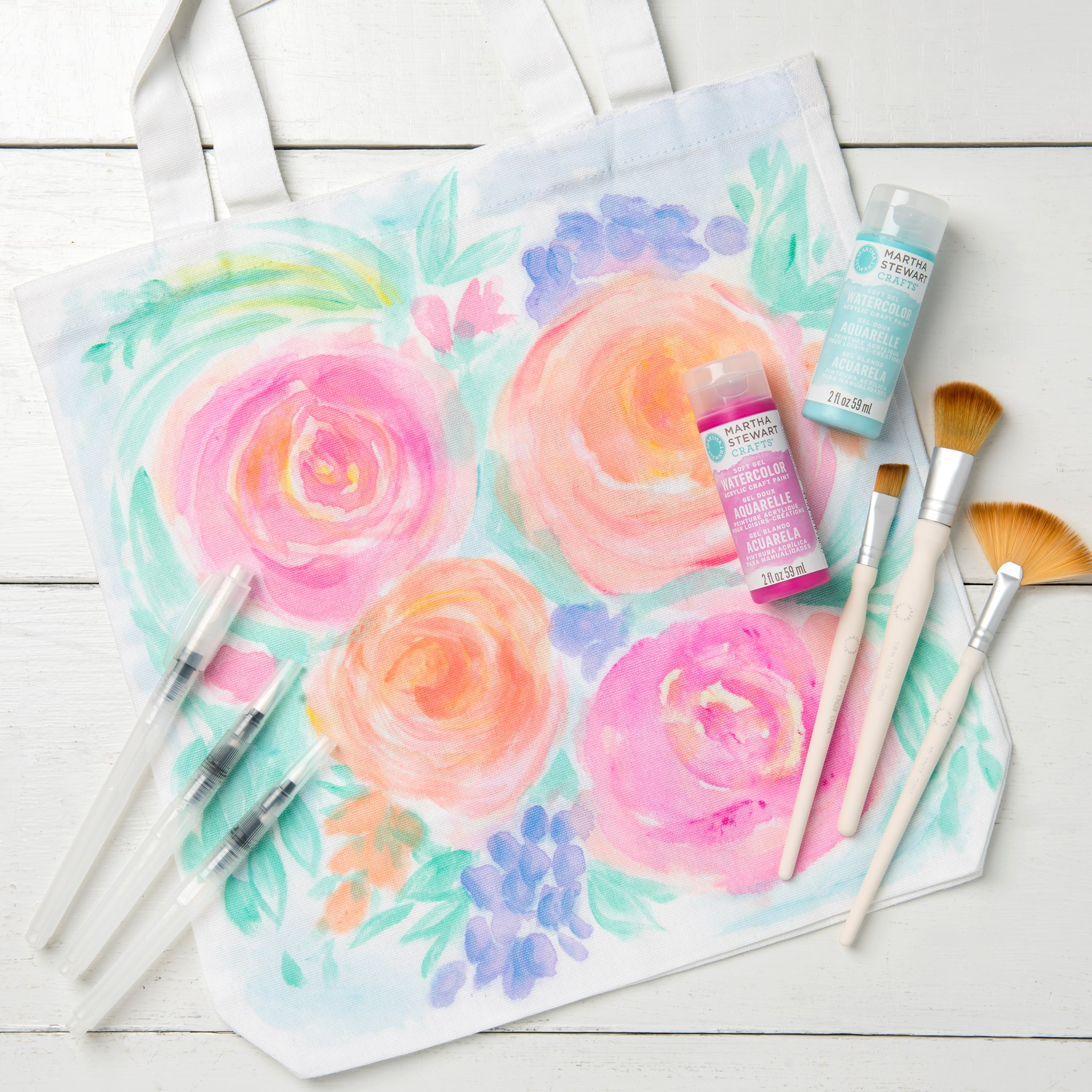 Watercolor Floral Totebag