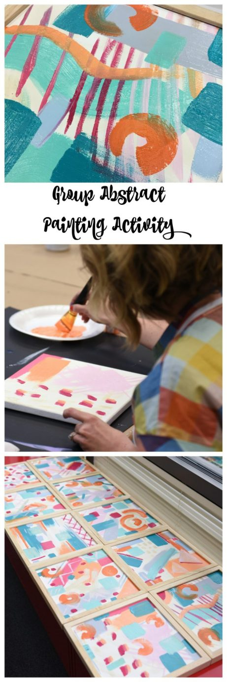 Group Abstract Painting Activity