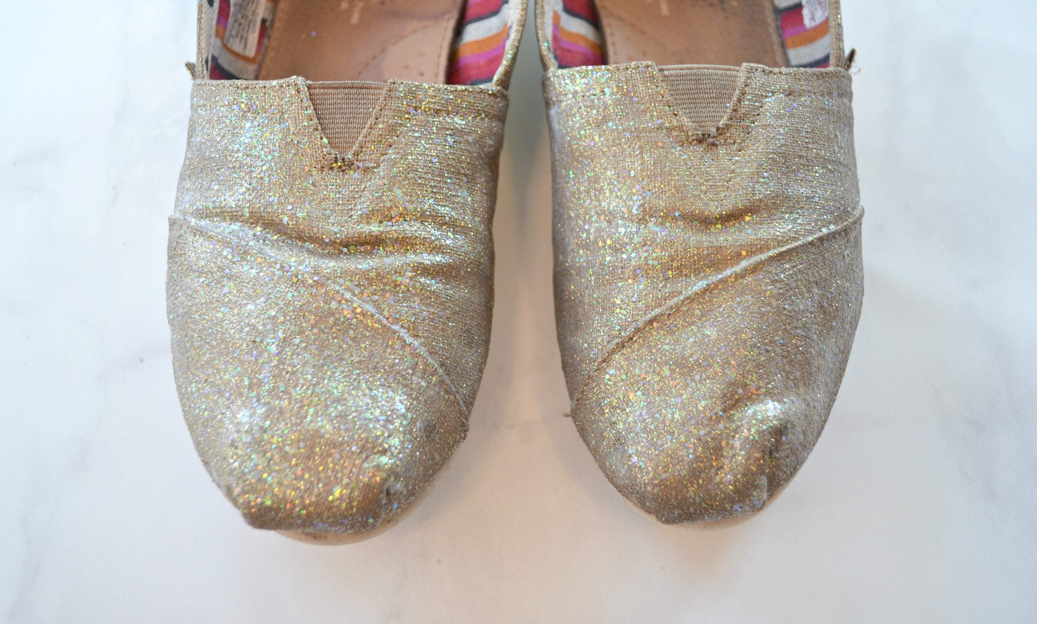 Diy Glittered Shoes A Fabric Creations Fairytale Amy